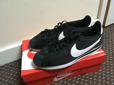 Nike Cortez Basic Nylon 9.5 UK Black / White