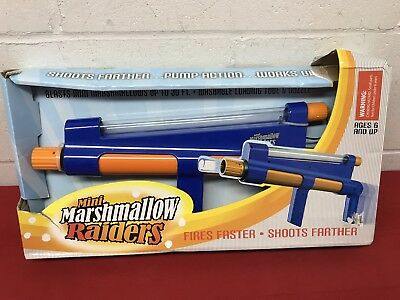 New Mini Marshmallow Raiders Shooter Gun Shoot Toy Rapid Fire Pump Action - Rapid Fire Marshmallow Shooter