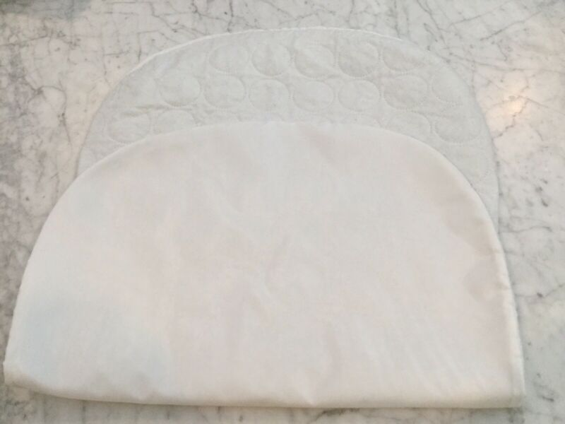 HALO BASSINEST Swivel Sleeper Waterproof Mattress Pad. Quilted White. Excel Cond
