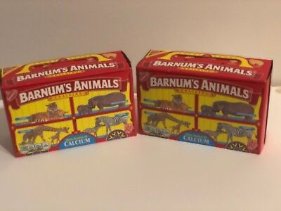 Two Nabisco Barnum's Animal Crackers Box Caged RARE Unopened New Discontinued - Barnum's Animal Crackers Bulk
