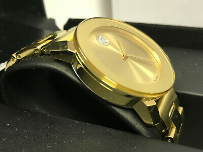 Movado 3600104 Women's Swiss Bold Medium Gold Ion-Plated Watch New w/tags