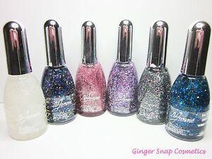 6-x-La-Femme-GLITTER-Nail-Varnish-Polish-Art-Carnival-Multi-Colour-Pink-Gift-Set
