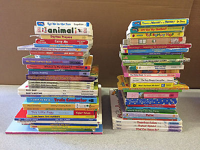 Lot of 12 Randomly selected Children & Baby Board Books $15 Free Shipping