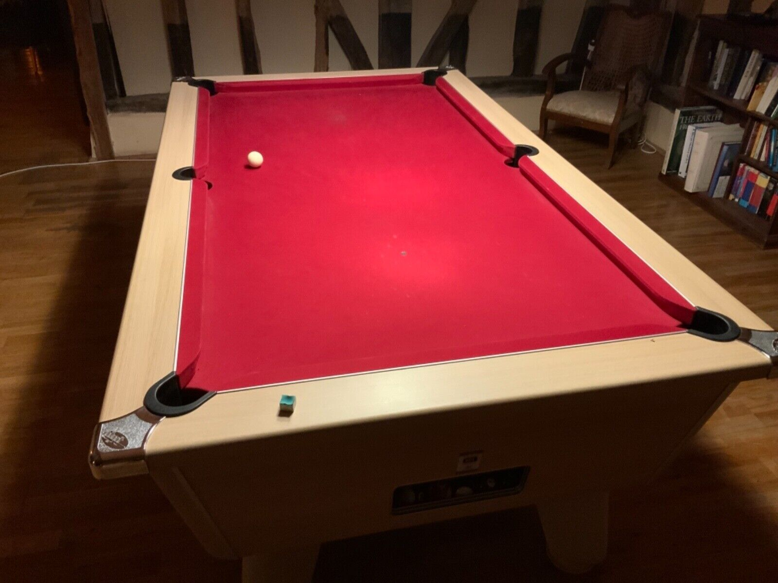 DPT Pool Table, 6 ft x 3 ft, red cloth, slate, approx 3 years old.
