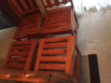 Marvelous Solid Timber Chairs. $25.00 Negotiable. Waurn Ponds Part 27