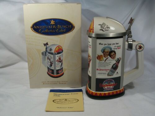 Budweiser Today Anheuser Busch CB36 Stein Autographed by Don Curran 2006.  #3