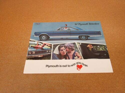 1967 Plymouth Belvedere GTX Satellite sales brochure 24 pg ORIGINAL