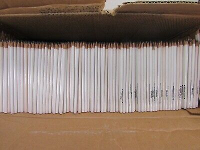 Bulk Lot Of 900 Pre Sharpened 2 Lead Wooden Pencils White