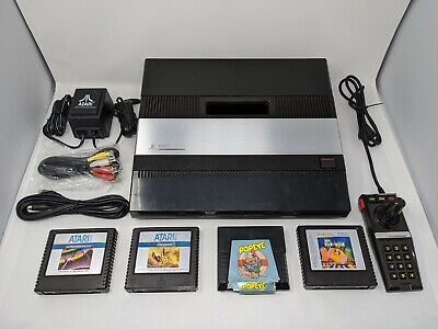 Atari 5200 Console w/ Pwr Supply, Games UAV S-Video/RCA Output & Blue Pwr LED