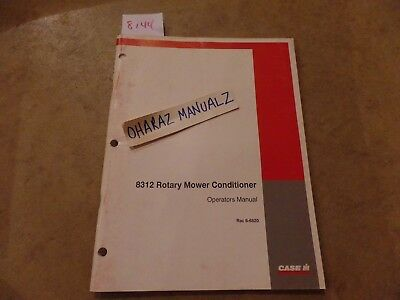 Case 8312 Rotary Mower Conditioner Operations Manual 6-6820