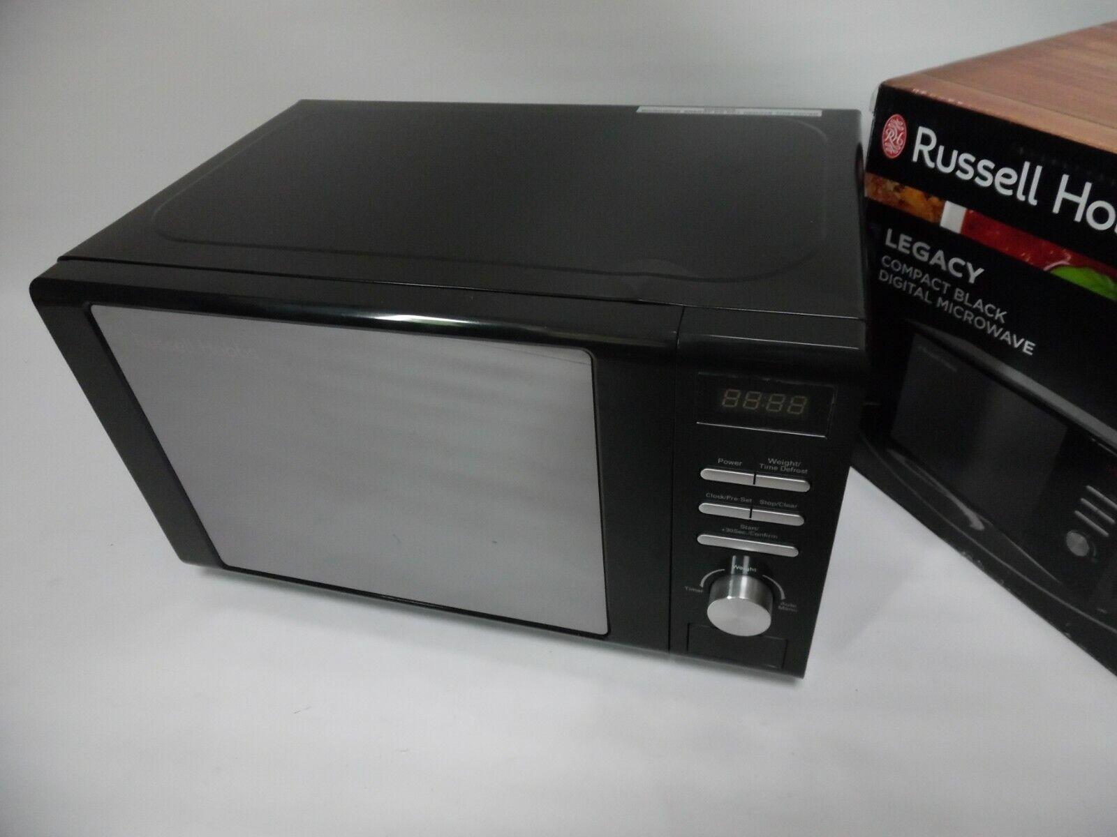 Russell Hobbs RHM2064B digitale Mikrowelle 800 Watt, 20L, schwarz B-Ware