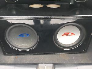 "2-12"" alpine subs for trade or sale"