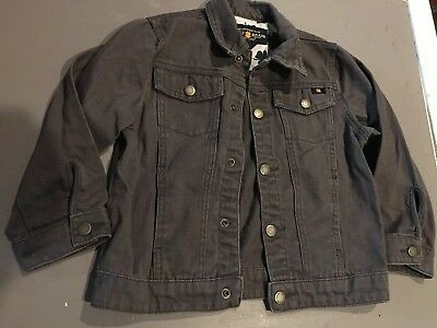 LUCKY BRAND Child Jean Jacket, Girls Size 4T, Snap Buttons Denim GRAY