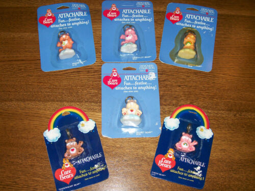 Lot  6 Vintage Care Bears Attachables American Greeting Cheer Friend Secret NEW