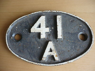 British Railways -  Shed Plate  41A  - Millhouses, Darnall, Tinsley