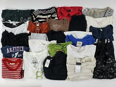 Huge Womens Junior Mixed Clothes Lot XS-M Gap American Eagle Hollister Etc Cute