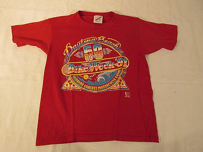 VINTAGE HARLEY DAVIDSON CHILDS T-SHIRT 1991DAYTONA BIKE WEEK 50YR M ROBISON HD