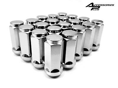 20 Pc (LONG) CHROME SOLID CUSTOM BULGE ACORN WHEEL LUG NUTS JEEP WRANGLER #1904L