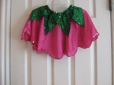 Raspberry & Green Pixie / Fairy Skirt, Costume or Dress-Up Child Size Medium - Raspberry Sprite