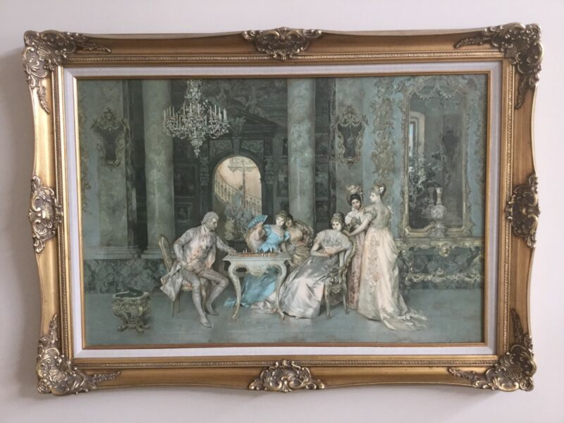 Framed Reproduction Of Painting The Chess Game Art Gumtree