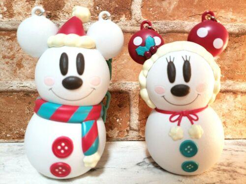 TOKYO Disney Christmas snowman Mickey & Minnie candy case accessory case snow