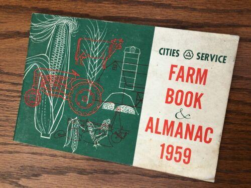 Vintage Farm Book Almanac SERVICE Gas Station advertising Oil Tire Truck Tractor