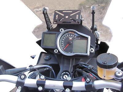 GPS soporte HEED para KTM 1050 / 1190 Adv., 1290 Super Adv. - Negro