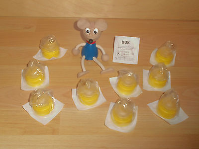 Baby Nuk Medic Pro Kliniksauger Trinksauger 10 St Extrafein gelocht Gr.1 Neu
