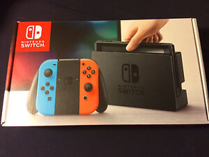 Nintendo Switch NEW CONSOLE Neon & Grey