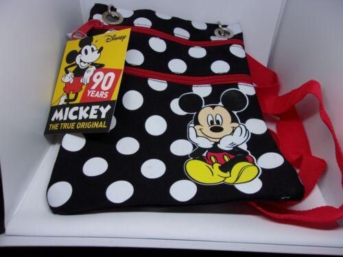 Disney Mickey Passport Bag Tote Dotty Polka Dot Travel Waterproof Fabric Purse