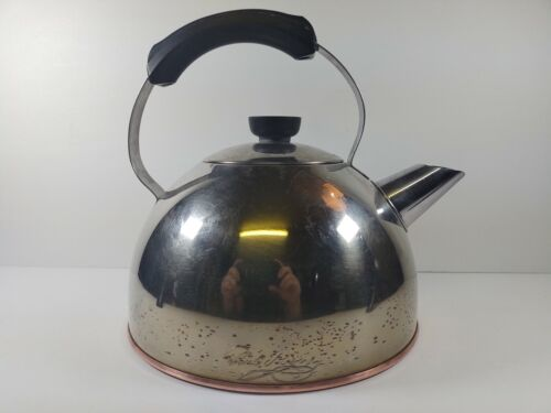 Vintage Revere Ware Copper Bottom Tea Kettle Made in Rome NY USA