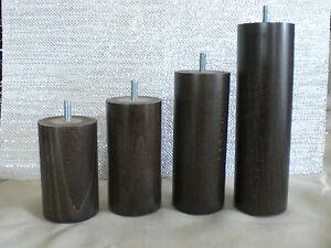 Pieds de canap pieds meuble en bois rond h tre brun fonc - Pieds de meuble en bois ...