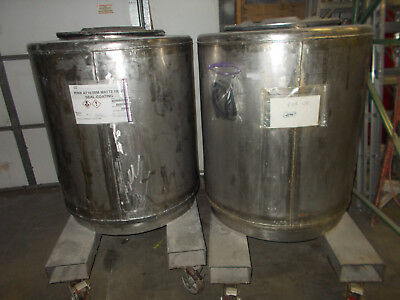 200 Gal Stainless Steel Tank Bottom Jacketed Stackable Front Dspense