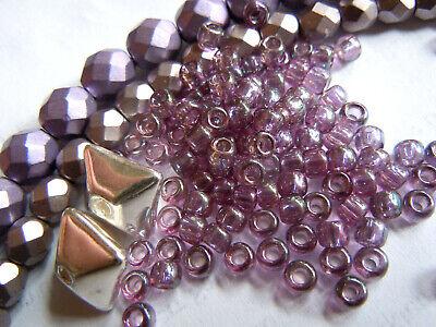 2034 TOHO 11//0 Rocailles 2,2mm 10g 20g Lila Braun irisierend Silbereinzug Code