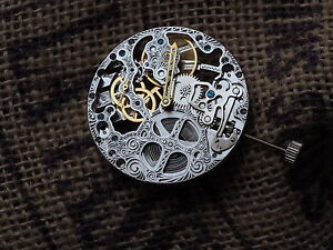 Seagull ST3600 ST36 mechanical hand winding skeleton movement clone Unitas 6497