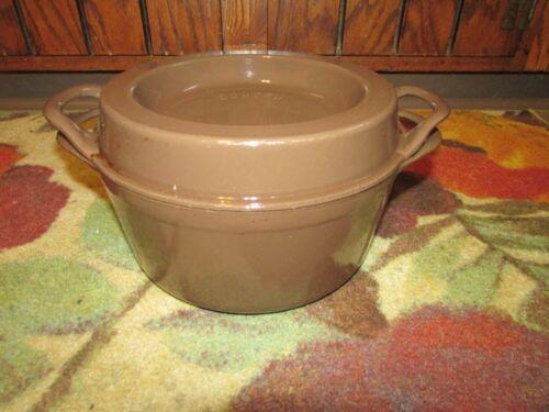 Great Doufeu Cousances 24 Cast Iron Enameled Round Dutch Oven Roaster Pot