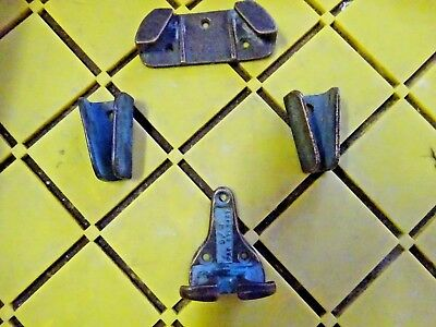 (Vintage Bronze Danforth  D/W  Anchor Chock set)