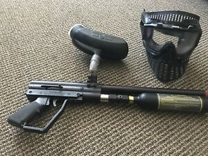 Paintball gun and mask for sale for $100