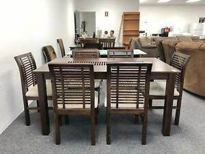 TODAY DELIVERY 7 pcs LUXURY WOODEN dining table & 6 chairs