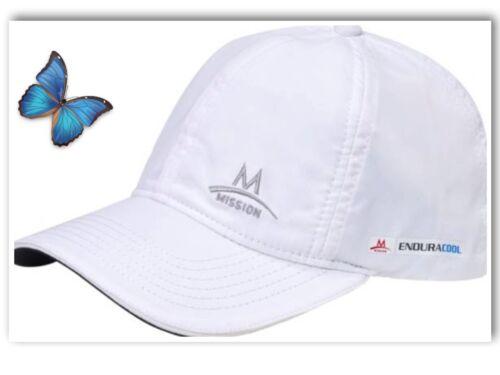 Mission Cooling Hat Men Women Cap UPF 50 Sun Protection Adjustable WHITE