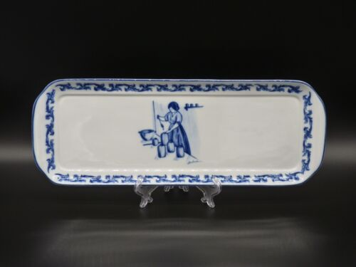 Belver Linea Strauss Blue & White Large Porcelain Tray