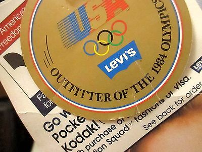 sz 18 33x32 NEW Vtg 80s Womens LEVIS WHITE 1984 OLYMPICS FASHION SLACKS PANTS