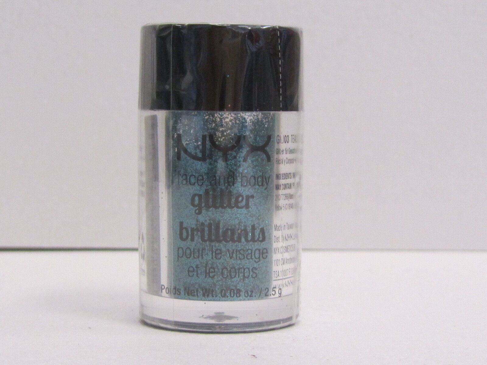 NYX Face and Body Glitter color GLI03 Teal 0.08 oz Brand New With Sealed