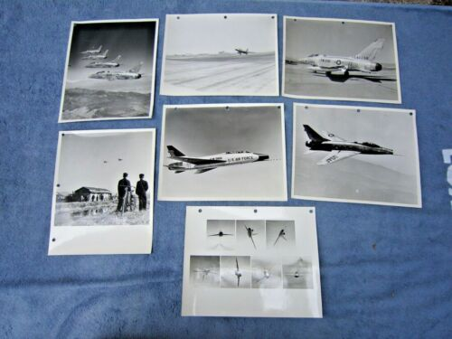 SEVEN 8 BY 10 INCH GLOSSY PHOTOGRAPHS - F100 - SUPER SABRE - GROUP #1
