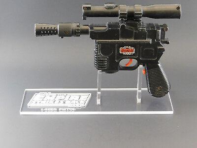 1 x Acrylic STAND - Empire Vintage Han Solo Laser Pistol/Blaster - Left Facing