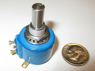 Bourns 3521s-1-502 5k Ohm 5-turn 1.0w Conductive Plastic Potentiometer  Nos
