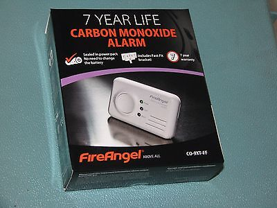 FIREANGEL CO9X CARBON MONOXIDE ALARM/DETECTOR 7 YEAR LIFE LITHIUM BATTERY