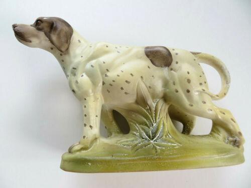 Vintage English Pointer Setter Spaniel Dog Brown & White 1950s Ceramic Planter