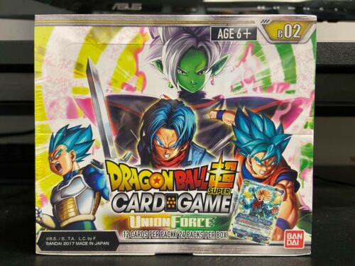 Dragon Ball Z Super Union Force Booster Box New Sealed 24 Packs Bandai Series 2