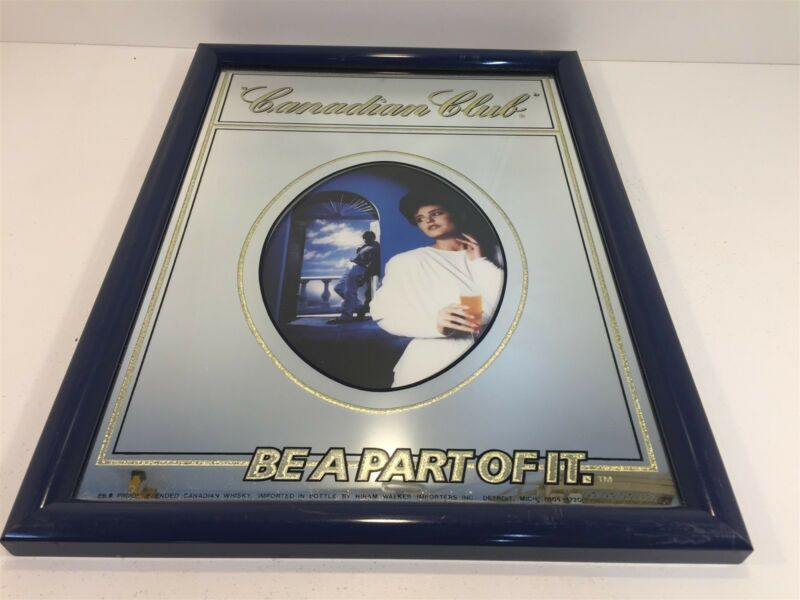 "Vintage Canadian Club - Be A Part Of It - Wall Mirror Advertising 19.5""x14"""